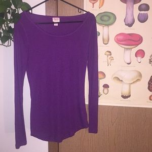 Purple polyester layering top